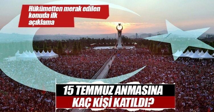 Hükümet'ten ilk açıklama: Kaç milyon kişi katıldı?