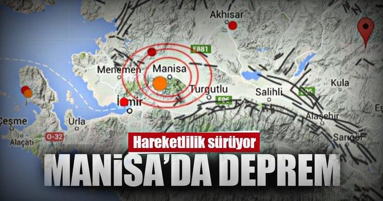 Son Dakika! Manisa'da 4.1'lik deprem