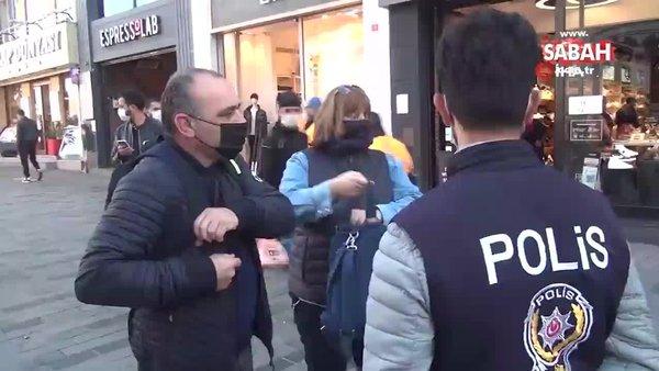 İstanbul Taksim'de koronavirüs ve sigara denetimi yapıldı