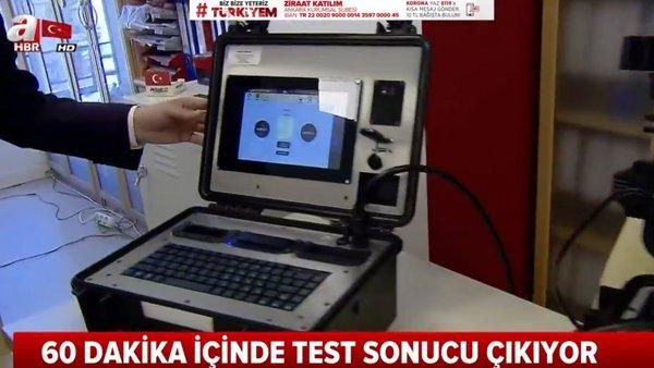 Son dakika: İşte taşınabilir corona virüsü test cihazı! Vatandaşlar nasıl test edilecek? | Video