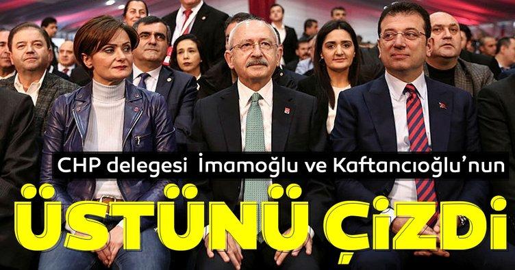 CHP delegesi İmamoğlu ve Kaftancıoğlu'nun üstünü çizdi