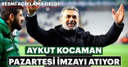 Son dakika: Aykut Kocaman resmen Atiker Konyaspor'da
