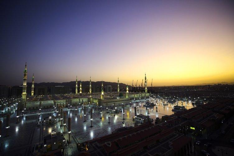 Peygamber şehrinde sabah güzelliği