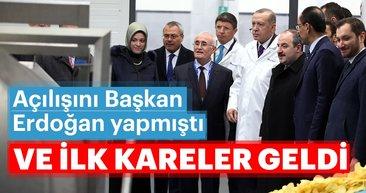 Başkan Erdoğan'ın açılışını yaptığı PepsiCo fabrikasından ilk görüntüler