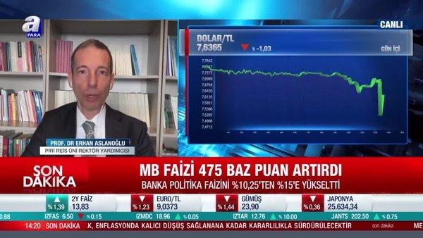 Prof. Dr. Erhan Arslanoğlu: Merkez Bankası piyasaların önüne geçmeyi başardı
