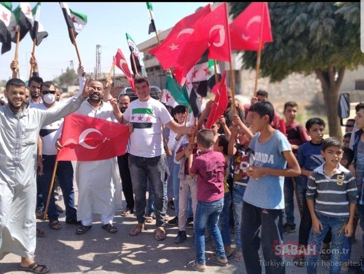 İdlib'de TSK'ye destek gösterileri düzenlendi