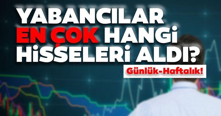 Borsa İstanbul'da günlük-haftalık yabancı payları 06/10/2020