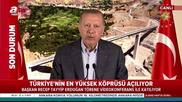 Son dakika: Cumhurbaşkanı Erdoğan'dan Botan Çayı Beğendik Köprüsü açılışında önemli açıklamalar | Video