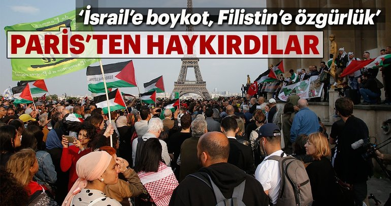 Paris'ten ABD ve İsrail'e protesto