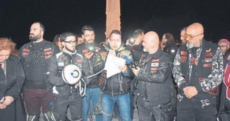 Motosikletçiler çocuk istismarı için toplandı