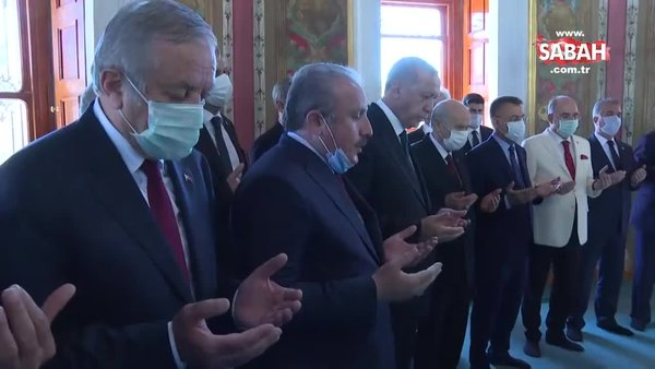 Fatih'in türbesinde duayı Meclis Başkanı Şentop okudu   Video