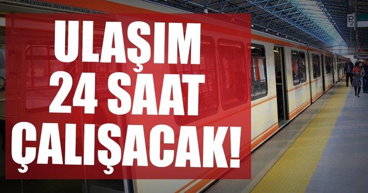 Son dakika: Ankara'da 24 saat ulaşım başlıyor