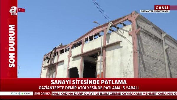 Gaziantep'te fabrikada patlama: 7 işçi yaralandı 3'ünün durumu ağır!   Video