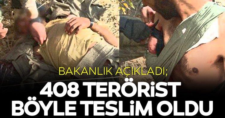 İçişleri Bakanlığı açıkladı: 2,5 yılda 408 terörist teslim oldu