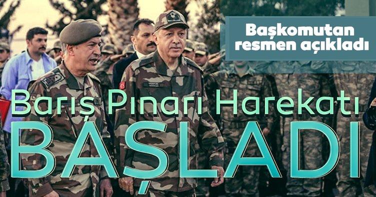 Son Dakika haberi | Başkan Erdoğan açıkladı: Barış Pınarı harekatı resmen başladı!