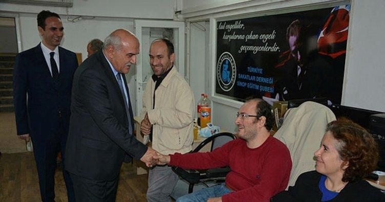 Vali İpek, engellilerin problemlerini dinledi