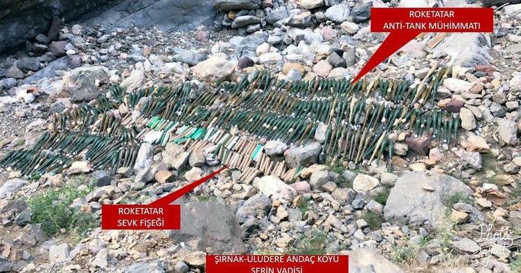 Şırnak'ta çok sayıda roket mühimmatı ele geçirildi