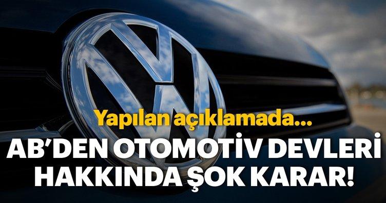 Avrupa Birliği (AB) Komisyonu, benzinli ve dizel araçlara yönelik temiz emisyon teknolojileri geliştirilmesini engelledikleri şüphesiyle BMW, Daimler ve VW şirketleri hakkında soruşturma başlatma kararı aldı. AB Komisyonu, BMW, Daimler ve VW (Volkswagen, Audi, Porsche) firmalarının rekabete aykırı...