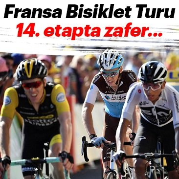 Fransa Bisiklet Turu 14. etapta kazanan Omar Fraile Matarranz