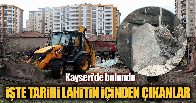 Kayseri'de bulunan lahitin içi açıldı