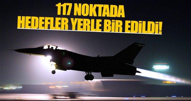 TSK Suriye'de terör örgütlerini vurdu