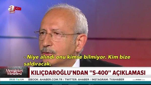 Dün dediğini bugün unuttu! Kemal Kılıçdaroğlu'nun S-400 çelişkisi   Video