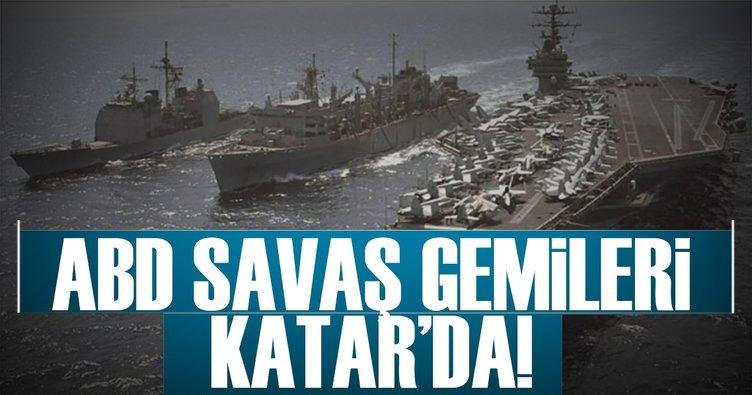 ABD, Katar'a 2 savaş gemisi gönderdi!