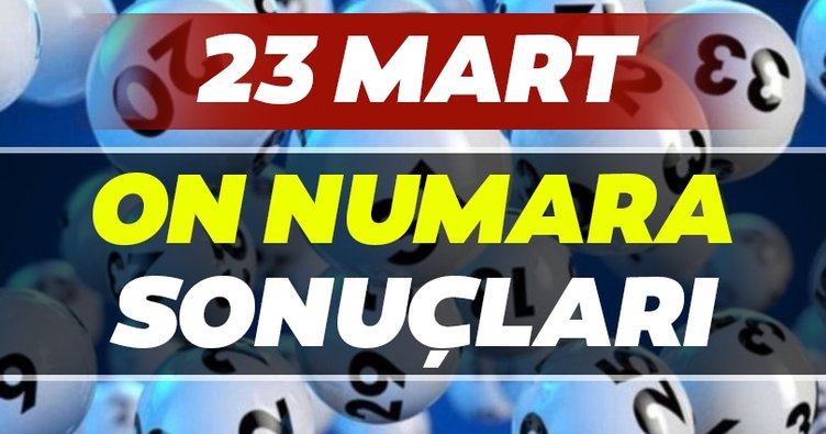On Numara sonuçları belli oldu! Milli Piyango 23 Mart On Numara çekiliş sonuçları ve MPİ hızlı bilet sorgulama ekranı BURADA...