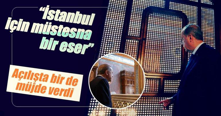 Cumhurbaşkanı Erdoğan Yıldız Hamidiye Camisi'ni açtı