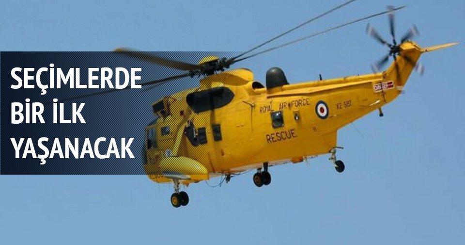 Elektrik kesintilerine helikopterli müdahale