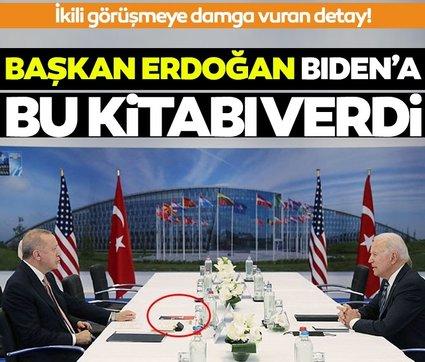SON DAKİKA! Tarihi zirvede dikkat çeken detay! Başkan Erdoğan'dan ABD Başkanı Biden'a 'terör kitabı'