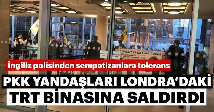 İngiltere'deki TRT World binasına PKK yandaşlarında saldırı