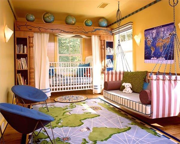 Bir masaldan fırlamış gibi görünen harika çocuk odaları