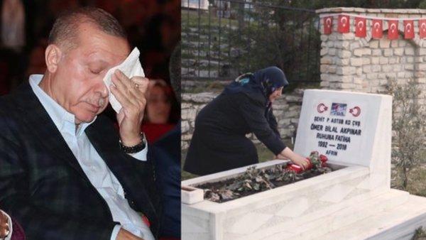 İşte Cumhurbaşkanı Erdoğan'ı duygulandıran 'Şehit anneleri' videosu   Video