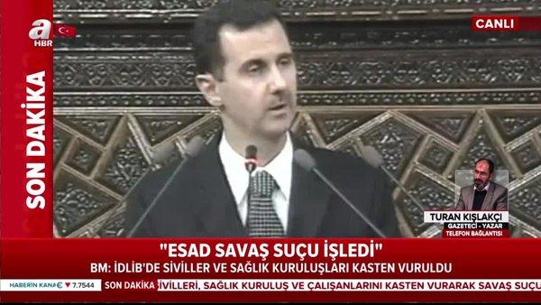Son Dakika: BM'den flaş İdlib açıklaması 'Esad savaş suçu işledi'   Video
