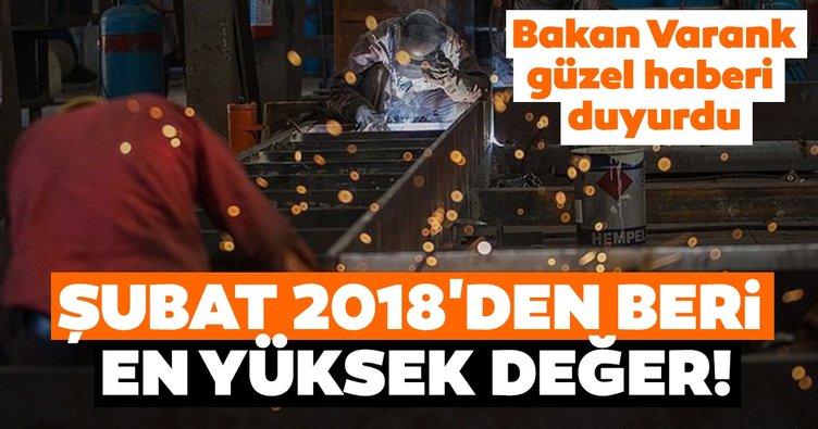 Son dakika | Bakan Varank güzel haberi duyurdu: Şubat 2018'den beri en yüksek değer
