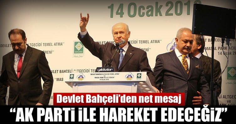 Bahçeli: AK Parti ile birlikte 2019 seçiminde milletimizin yanında yer alacağız