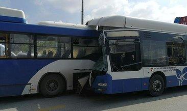 Ankara'da iki EGO otobüsü çarpıştı: 1 kişi hayatını kaybetti, 15 kişi yaralandı