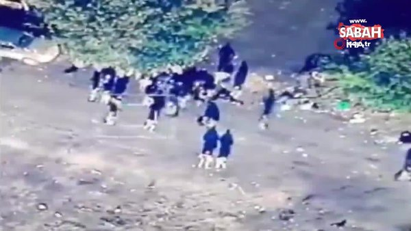 Azerbaycan'a ait TB2 SİHA Ermeni askerlerini vurdu | Video