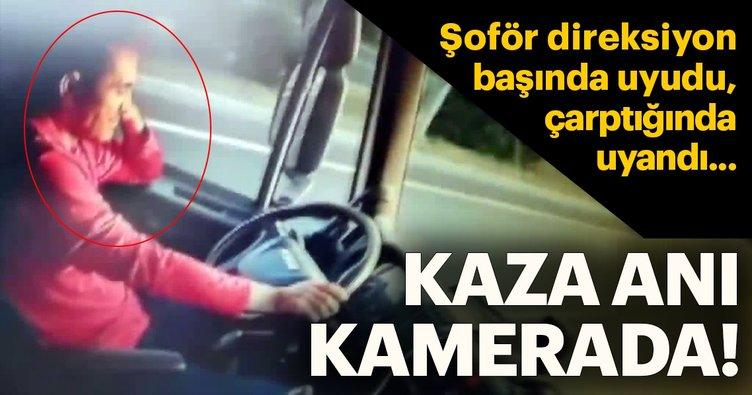 Şoför uyudu, yayaya çarptığında uyandı... İşte saniye saniye kaza anları
