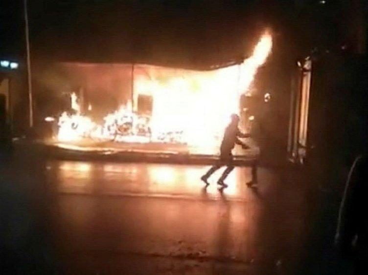 Aile içi kavga yangınla son buldu