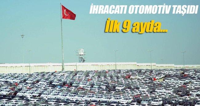 Otomotiv ihracatı yılın 9 ayında yüzde 11 arttı