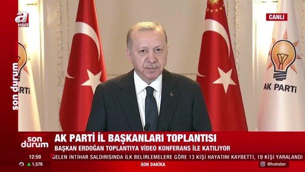Cumhurbaşkanı Erdoğan'dan AK Parti İl Başkanları toplantısında önemli açıklamalar | Video