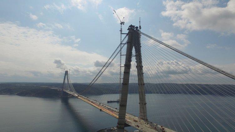 Yavuz Sultan Selim Köprüsü ve bağlantı yolları görüntülendi