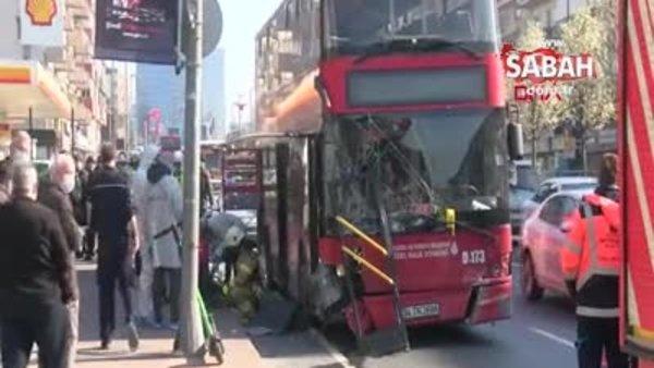 Son dakika! Çift katlı İETT otobüsü kaza yaptı. 1 kişi öldü | Video