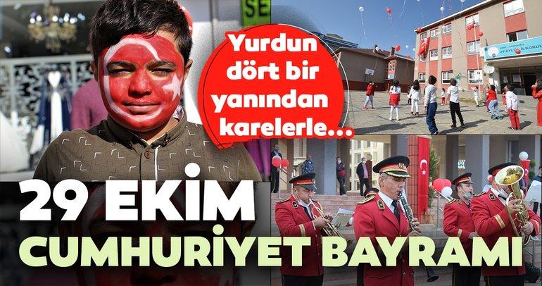29 Ekim Cumhuriyet Bayramı'nın 97. yıl dönümünde Türkiye'nin her yerinde böyle kutlanıyor!