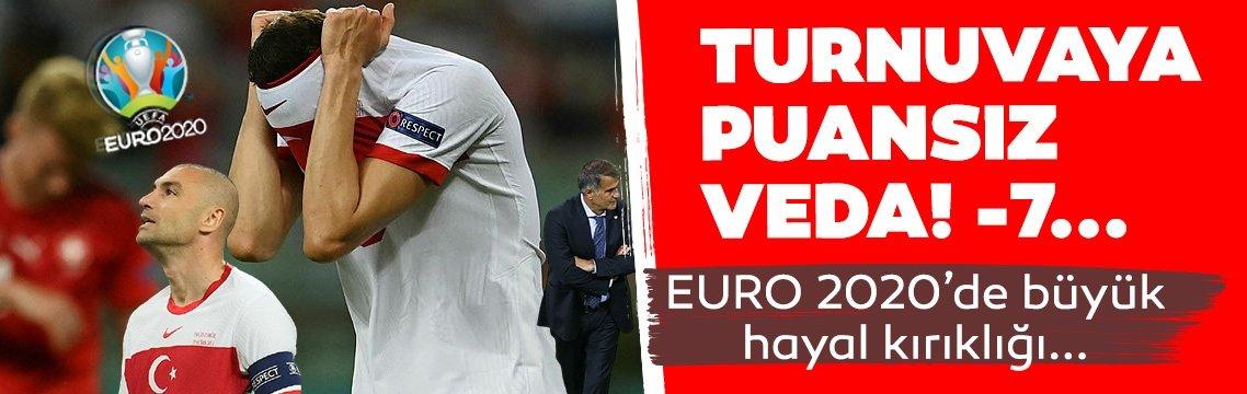 İsviçre'ye yenilerek EURO 2020'ye puansız veda ettik!