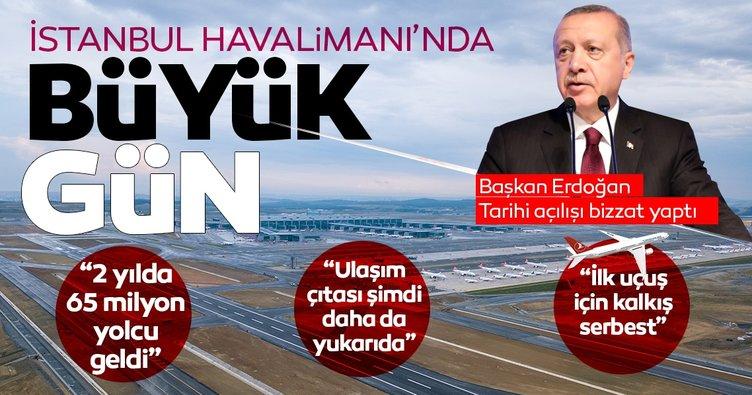 Başkan Erdoğan'dan tarihi açılış: 3. Havalimanı bağımsız üçüncü pistine kavuştu!