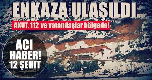 Tunceli'de düşen helikopterin enkazına ulaşıldı ve acı haber geldi