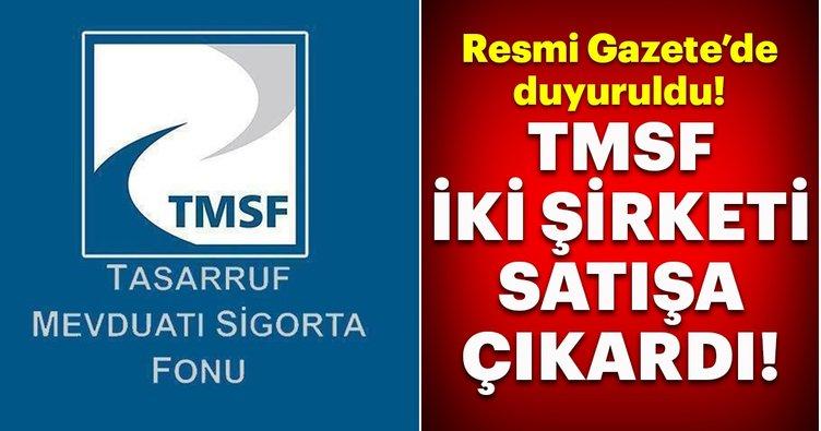 TMSF iki şirketi satışa çıkardı!